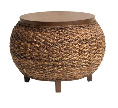 seagrass ottoman coffee table fong brothers co fb 3764 round coffee table