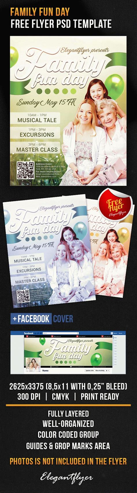 Family Fun Day Free Flyer Psd Template By Elegantflyer Day Flyer Template Free