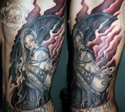 Tattoo Geisha Realista | tatuaje realista lado geisha por tim kerr