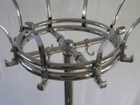 large art deco chromed steel commercial industrial coat rack for sale at 1stdibs