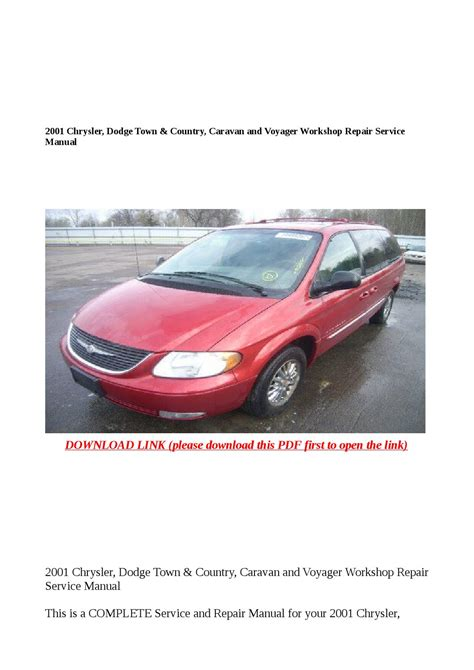 manual repair free 2001 chrysler town country free book repair manuals 2001 chrysler dodge town country caravan and voyager workshop repair service manual by cindy