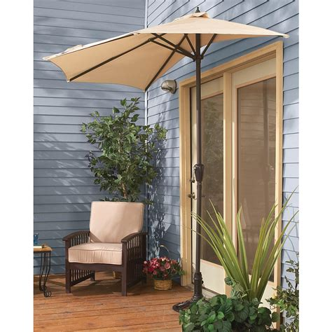 Half Umbrella For Patio Patio Half Umbrella Castlecreek 8 Half Patio Umbrella 235556 Patio Umbrellas At Sportsman S