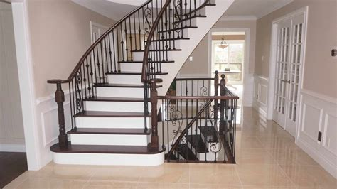 refinishing stair banister strataline inc reinvent your home
