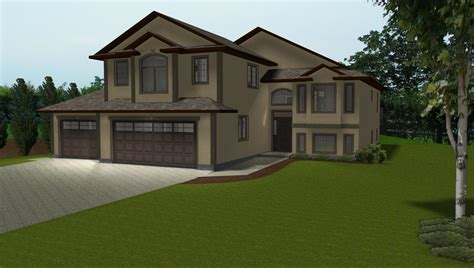 3 car garage on house plans by e designs 2