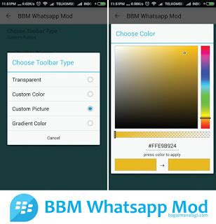 themes for bbm whatsapp mod bbm whatsapp mod change theme and change toolbar color apk