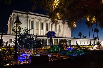 mesa temple christmas lights a 35 year tradition church