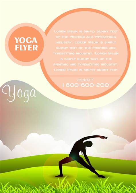 template powerpoint yoga 20 distinctive yoga flyer templates free for professionals