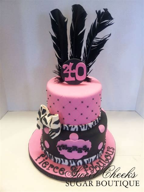 A Fierce Fabulous And Forty Themed  Ee  Birthday Ee   Cake For