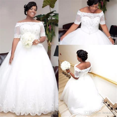 boat neck ball gown wedding dress discount shinning boat neck ball gown plus size wedding