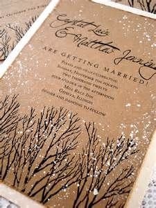 winter wedding invitation tree sted and by everafterpapery