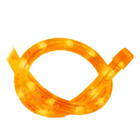 led rope light by foot amber