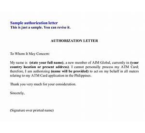 72 authorization letter atm card resume of a student with format how to write authorisation letter to give my atm card to altavistaventures Images