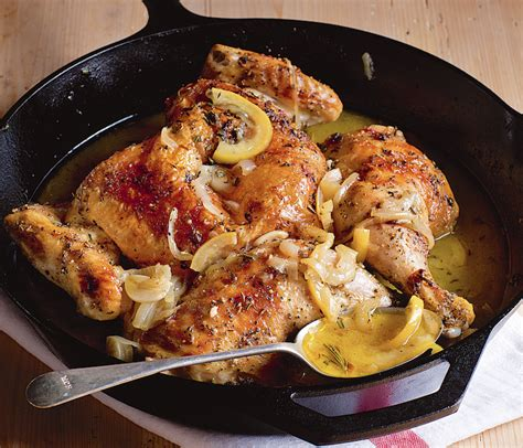 skillet roasted lemon chicken ina garten ina garten s favorite skillet roasted lemon chicken