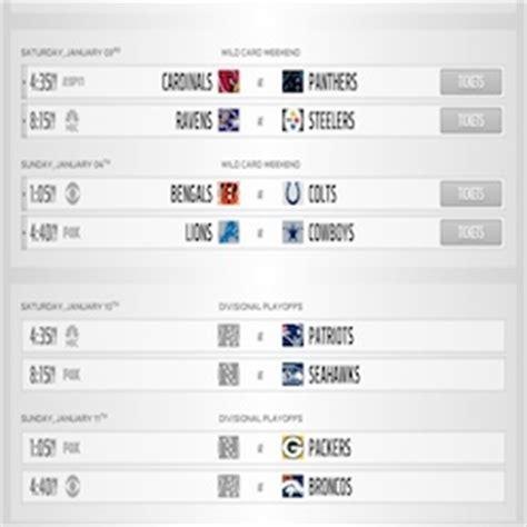 printable nfl playoff tv schedule 2015 2014 2015 nfl playoff schedule