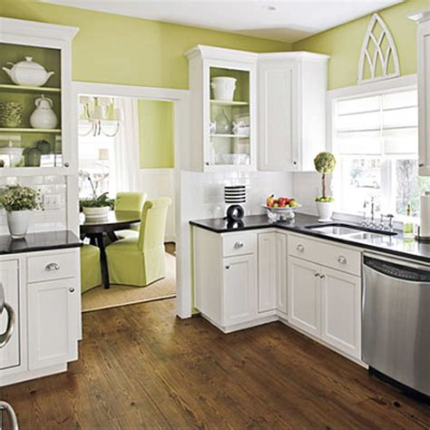 Paint Colors For Small Kitchens With White Cabinets White Cabinets And Green Wall Paint Color Combination For Small Kitchen With Small Cabinets