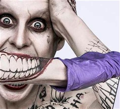 joker mouth tattoo more of what you see filme suicide squad esquadr 227 o