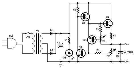 variable dc power supply circuit diagrams schematics