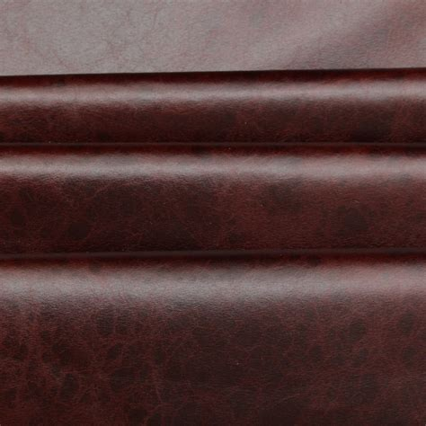 fake leather upholstery fabric distressed antique aged brown fire retardant faux leather