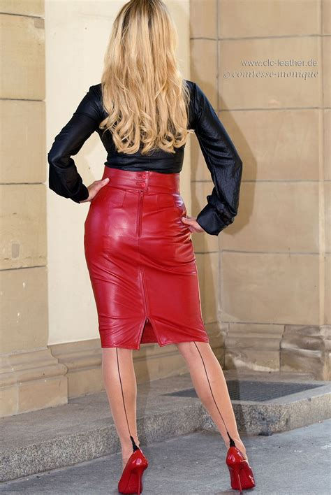 women in tight leather skirts and boots comtesse monique tight leather pencil skirt and seamed