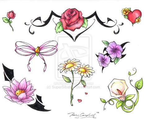 Tattoo Flash Flowers | flower tattoo flash joy studio design gallery best design