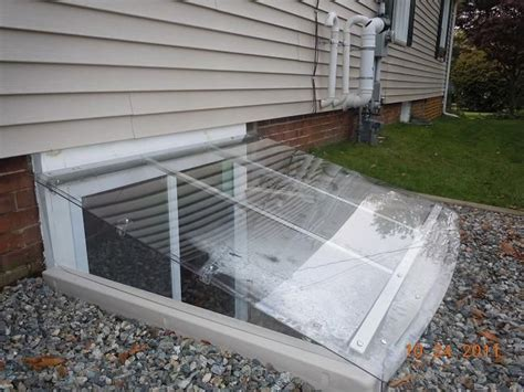 egress window cover or these lean to window well cover easy egress outside