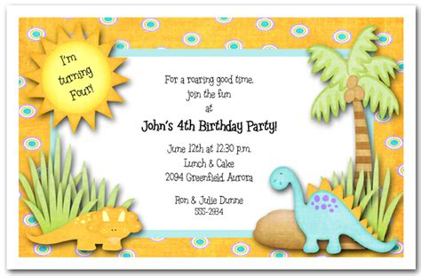 dinosaur party invitation images