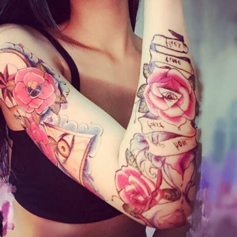 tato mawar di lengan baru 2015 bunga lengan stiker tato mata seni di mawar