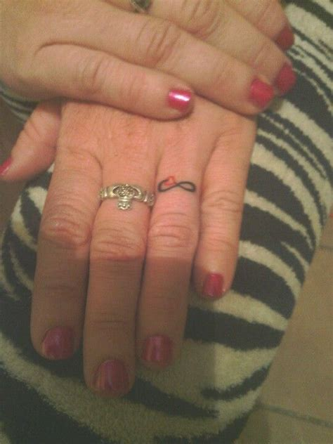 infinity tattoo on wedding finger my gut feeling is that these hands are attached to a