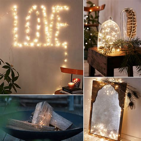 how to decorate with copper wire christmas lights