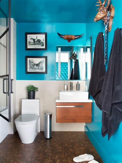 colorful bathroom ideas 10 paint color ideas for small bathrooms diy network