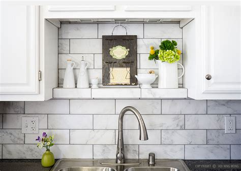 Marble Subway Tile Kitchen Backsplash | 10 subway white marble backsplash tile idea