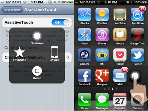 how to quickly turn iphone assistivetouch icon on hongkiat