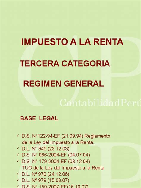 renta de 4ta categoriapdf scribd impuesto a la renta tercera categoria regimen general