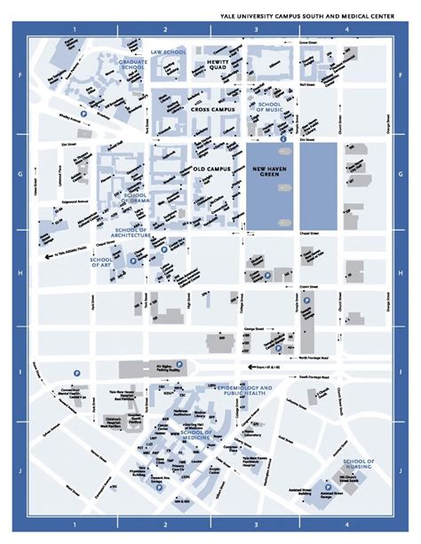 Printable Yale Map | cus maps conferences events