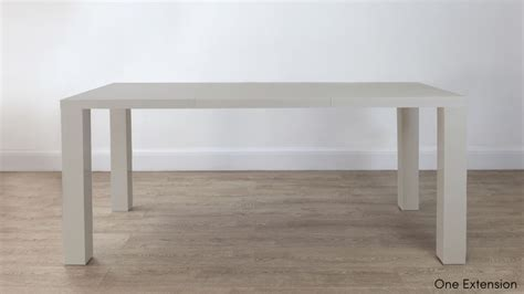 grey gloss extending dining table seats up to 10