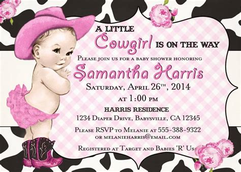 Baby Shower Western Invitations by Western Baby Shower Ideas Baby Ideas