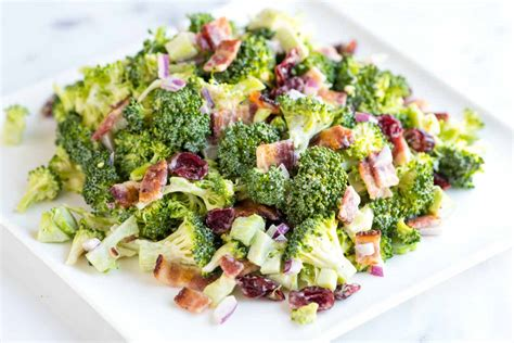 easy salad recipe easy broccoli salad recipe with bacon