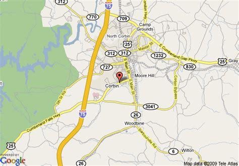 kentucky map corbin map of fairfield inn by marriott corbin corbin