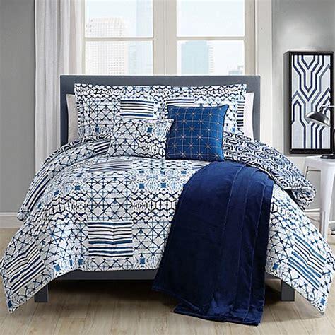 bed bath and beyond blue comforter kiko comforter set in blue white bed bath beyond