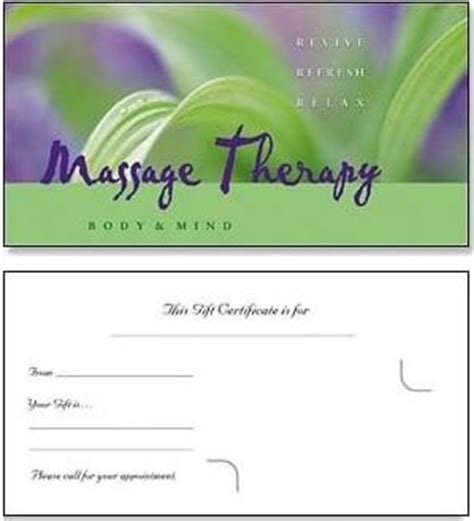 therapy gift card templates 25 best images about gift certificates on free