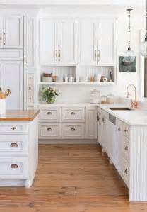 White Kitchen Cabinets Hardware White Kitchen Cabinets With Copper Cup Pulls And Copper