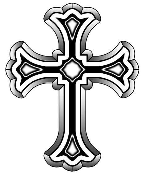image christian cross grey ink tattoo design jpg