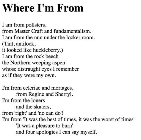 where i am from poem template where i m from poem exles images