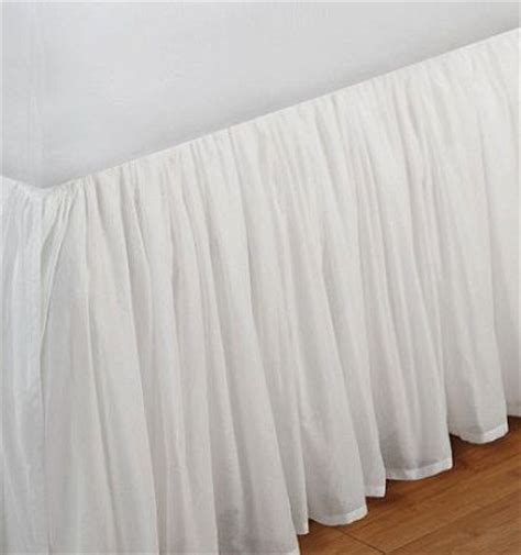 how to put on a bed skirt voile fuller ruffled bed skirt off white bedskirts in
