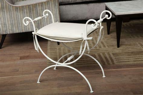 iron vanity bench iron vanity bench at 1stdibs