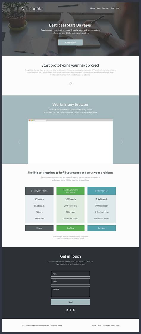 free landing page templates for 40 best free landing page psd templates designmaz