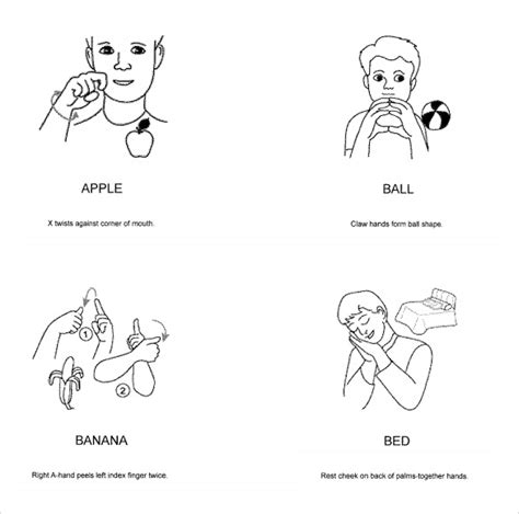 baby sign language chart template 7 sle baby sign language charts sle templates