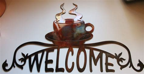 christian home decor store coffee cup ornamental welcome sign