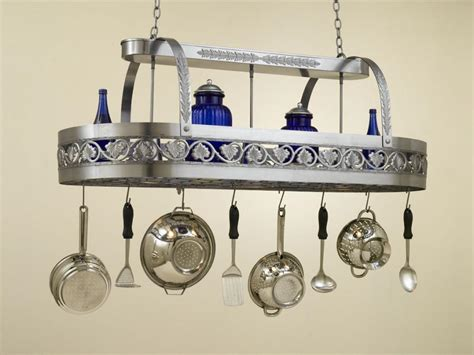 Pot And Pan Hanger With Light Pot Rack With Lights Homesfeed