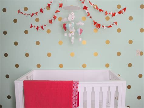gold dot wall decals mint coral and gold nursery project nursery